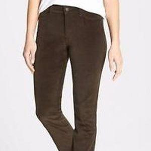 Nydj CORDUROY brown legging pants sz 6